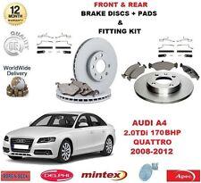 para AUDI A4 2.0 TDI quattro 170BHP Delantero Discos de freno Trasero &