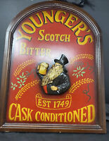 Younger's Sign Scotch Bitter Wood and Resin 3D  Bar Sign