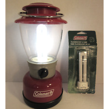 COLEMAN D BATTERY CAMPING 5328 LANTERN PORTABLE WITH REPLACEMENT BULB