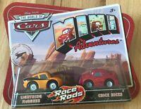 Disney Pixar Cars Mini Adventures Race Rod Lightning McQueen and Chick Hicks NIB