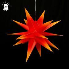 LED estrellas de Adviento Plegable Ø60 exteriores Navidad 18zack rojo/Amarillo