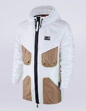 Nike Men's International Windrunner Full Zip Jacket White/Black/Gold Size Medium
