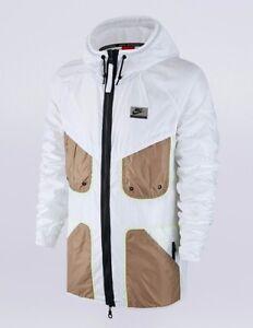 Nike Men's International Windrunner Full Zip Jacket White/Black/Gold Size Small