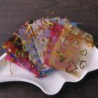 100pcs 7x9cm Organza Wedding Party Decoration Gift Candy Bags Pouches Mixed