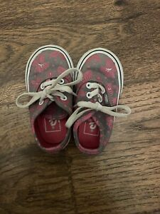 Baby Girl Vans Shoes Size 4.5