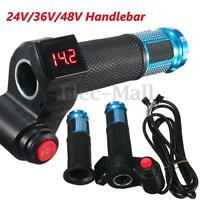 24V 36V 48V Universal Electric Scooter Bike Throttle Handlebar Digital Meter !