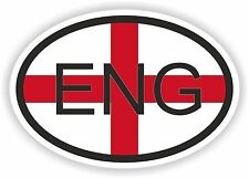 England ENG OVAL WITH ENGLISH FLAG STICKER bumper decal car helmet