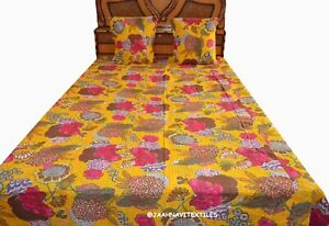 New Fruit Print Indian Cotton Bedding Bed Cover Bedspread Throw Ethnic Coverlet