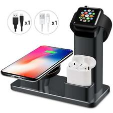 3 in 1 10W Fast Wireless Charger Stand Station iPhone Apple Watch AirPods Docks
