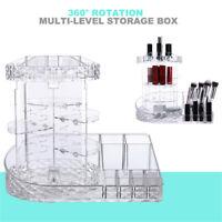 "16"" Makeup Cosmetic Rack Holder 360 Degree Rotating Organizer Storage Box Case"