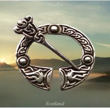 Vintage Scottish Iona Sterling Silver Penannular Brooch  Robert Allison