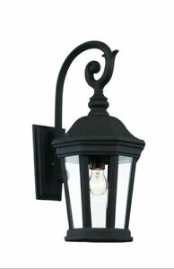 Bel Air Lighting 1-Light Black Outdoor Chateau Villa Wall Lantern Sconce