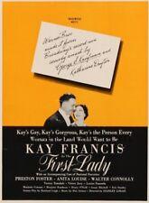 First Lady - 1937 - Kay Francis Preston Foster Stanley Logan Vintage Film DVD