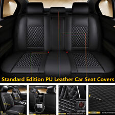 5D Full Surrounded Car Seat Cover Cushion PU Leather Full Set Fit For 5-Seat Car