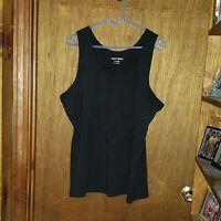 Womens Fashion Bug Black Tank Top - Size 22/24W