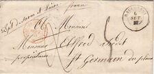 Lettre Sarde CaD Racconigi Double Taxe, Cachet Rouge D'entrée 1857 Cover Sardi