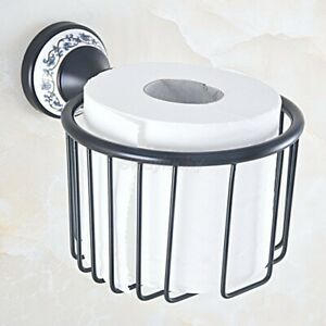 Oil Rubbed Bronze Wall Mounted Toilet Paper Holder Roll Tissue Basket wba758