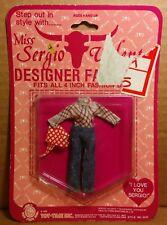 "Miss Sergio Valente mini doll outfit 4"" 1982 Mattel Dazzle Glamour Gals Clone"