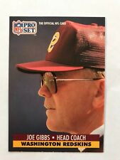 1991 Pro Set Football Card #324 Joe Gibbs Washington Redskins HOF NM/MT