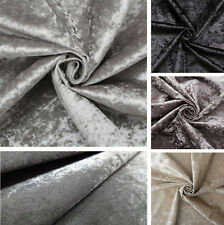 Premium CRUSHED VELVET FABRIC Craft Upholstery Stretch Material 150cm Extra Wide
