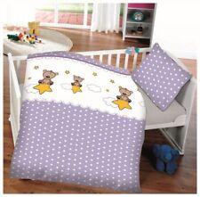 Baby Kinder Baumwoll Bettwäsche Teddy Oeko Tex 40x60 + 100x135 cm mit Reißv.