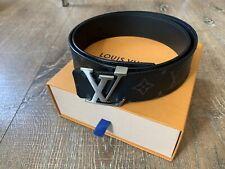 Men's Louis Vuitton Black Monogram Eclipse Reversible Belt 85/34 M9043 $575 Msrp