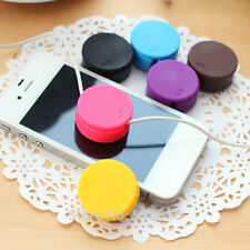 2 in 1 Phone MP4 Headphone Earphone Cable Candy Color Bobbin Winder+Screen Clean