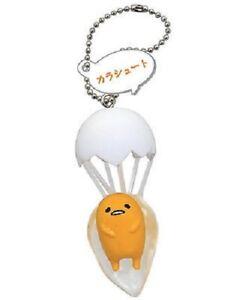 Gudetama Lazy Egg Mascot Swing PVC Keychain SD Figure Charm~ #A Parachute @85245