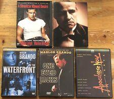 Lot of 5 Ex Rental Marlon Brando Dvds Apocalypse Waterfront Streetcar Godfather