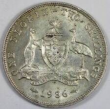 Australia 1936 Florin, about Uncirculated/Uncirculated