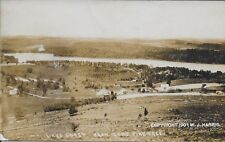 Lake Carey fr Lone Pine Tree PA RPPC Real Photo W J Harris 1907 Towanda postmark