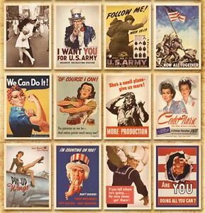 Lot of 32 Postcard Vintage World War II Photo Picture Poster Post Cards