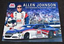 2016 Allen Johnson Marathon Oil Pro Stock NHRA Autographed HANDOUT/POSTCARD