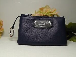 Marc by Marc Jacobs Dark Blue New Q Slim Leather Key Pouch*****NEW*****$98*****
