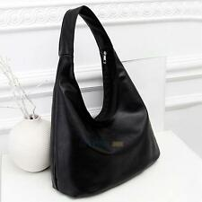 Womens Faux Leather Shoulder Bag Satchel Handbag Lady Simple Messenger Hobo Tote