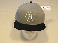 HUF grey black RARE Mens adult snap back hat cap surf skate one size one & only