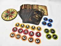 Pirateology The Game Replacement Spinner, 70 Playing Cards, MOST of game pieces