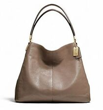 NWT COACH Madison Leather Small Phoebe Shoulder Bag F26224 Light Gold Silt