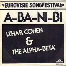 """IZHAR COHEN & The Alpha-Beta – A-Ba-Ni-Bi (1978 EUROVISION SINGLE 7"""" HOLLAND)"""