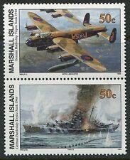 Marshall Islands 1994 World War 2 WW II Scott 498-9 Tirpitz Sinking W84 NH