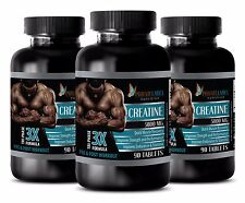 Pure Creatine hcl Monohydrate Powder 3X 5000mg Muscle Gainer 3 Bot 270 Capsules