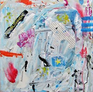 """Contemporary modern Abstract Painting """"Establishment """" By Artist Vital"""
