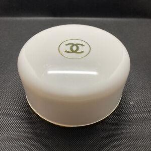Chanel No. 5 Vintage Round Perfumed Bath Powder & Puff 4 Oz. Paris New York