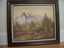 Vintage  Painting  Oil on canvas   Landscape  Framed   signed