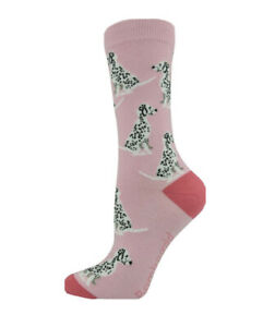 Bamboo fibre Dalmatian socks. Ladies Socks. Dog Socks