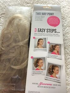HOT HAIR TWO WAY CURLY PONY CREAMY TWIST NEW BOXED X2