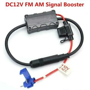 Auto Car FM AM Radio Stereo Antenna Signal AMP Amplifier Booster Strengthen 12V