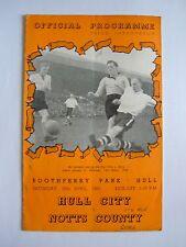 Hull City v Notts County 1950/1951 - Football Programme