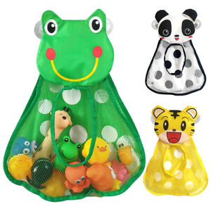 Kids Baby Bath Toy Tidy Storage Bag Suction Cup Bathroom Organiser Net Mesh A9C