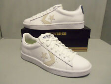 Converse Pro 76 Low Top Leather Basketball Shoes Size Men's 9 White Navy